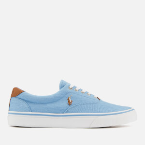 Polo Ralph Lauren Men's Thorton Washed Twill Vulcanised Trainers - Collin Blue
