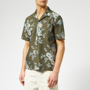 Universal Works Men's Road Shirt - Flower Olive
