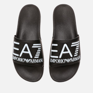 Emporio Armani EA7 Sea World Slide Sandals - Black