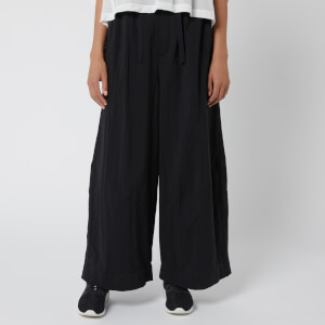 Y-3 Women's Twill Wide Leg Pants - Black