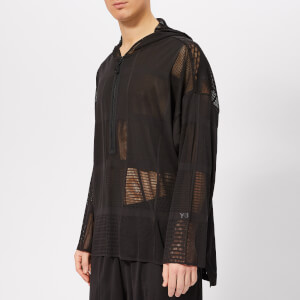 Y-3 Men's Patchwork Mesh Hoody - Black