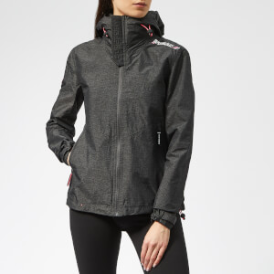 Superdry Women's Technical Hooded Cliff Hiker Jacket - Charcoal Grit/Bright Pink