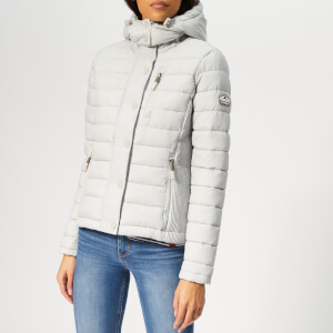 Superdry Women's Fuji Slim Double Zip Jacket - Ice Grey Marl