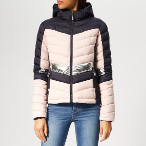 Superdry Women's Offshore Chevron Fuji Jacket - Navy Mix