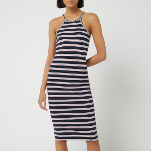 Superdry Women's Tiana Midi Dress - Red Stripe