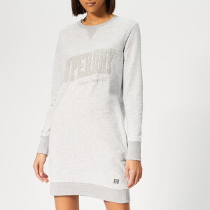 Superdry Women's Tonal Sweat Dress - Lace Grey
