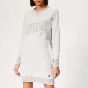 Superdry Women's Tonal Sweat Dress - Lace Grey