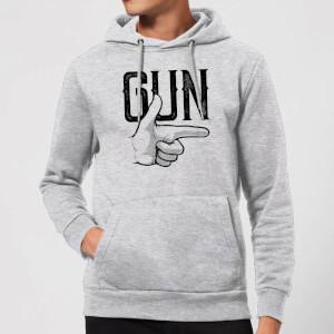 Gun Hoodie - Grey