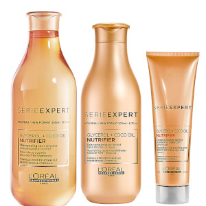 L'Oréal Professionnel Serie Expert Nutrifier Shampoo, Conditioner and Creme Trio