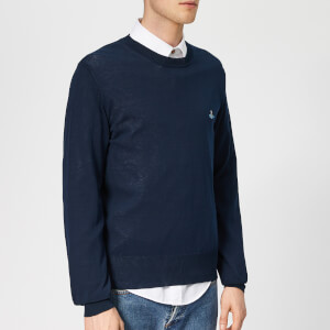 Vivienne Westwood Men's Classic Crew Neck Knit - Navy