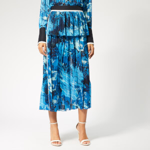 Victoria, Victoria Beckham Women's Mixed Pleat Skirt - Blue