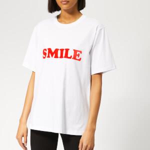 Victoria, Victoria Beckham Women's Smile T-Shirt - White