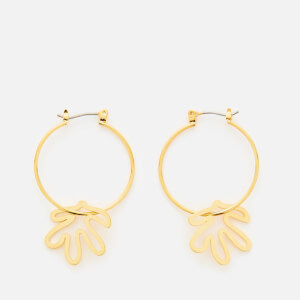 Whistles Women's Abstract Leaf Hoop Earrings - Gold