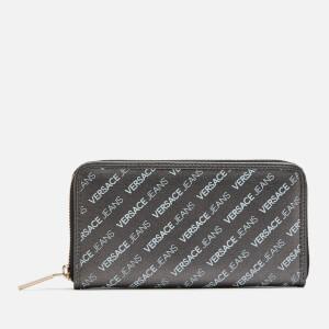 Versace Jeans Women's Large Zip Around Wallet - Black