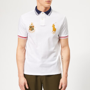 3b72cf2bf Polo Ralph Lauren Men's Crest/Horse Pique Polo Shirt - White