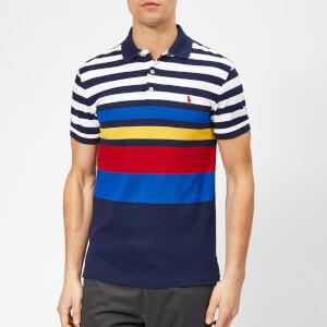 Polo Ralph Lauren Men's Stripe Basic Slim Fit Polo Shirt - Newport Navy Multi