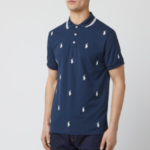 Polo Ralph Lauren Men's All Over Logo Polo-Shirt - French Navy