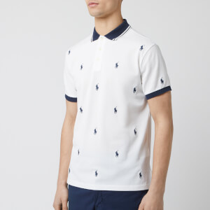 Polo Ralph Lauren Men's All Over Logo Polo-Shirt - White