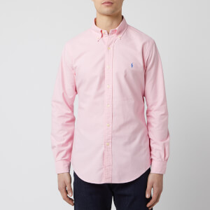 Polo Ralph Lauren Men's Garment Dyed Oxford Shirt - Taylor Rose