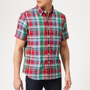 18ad0c6da Polo Ralph Lauren Men s Check Short Sleeve Shirt - Red Multi