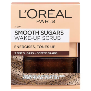 L'Oréal Paris Smooth Sugar Wake-Up Coffee Face and Lip Scrub 50ml