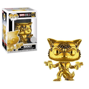 Marvel MS10 - Rocket Raccoon Gold Chrom EXC Pop! Vinyl Figur