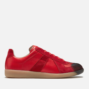 Maison Margiela Men's Replica Painted Toe Trainers - Red/Black Tag