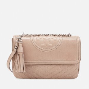 Tory Burch Women's Fleming Distressed Shoulder Bag - Taupe