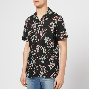 PS Paul Smith Men's Short Sleeve Casual Shirt - Black