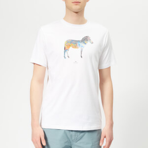 PS Paul Smith Men's Regular Fit Zebra T-Shirt - White