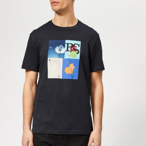 PS Paul Smith Men's Regular Fit Leaf T-Shirt - Dark Navy