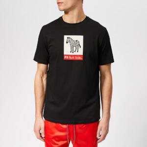 PS Paul Smith Men's Regular Fit Zebra T-Shirt - Black
