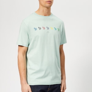 PS Paul Smith Men's Regular Fit Multi Zebra T-Shirt - Green