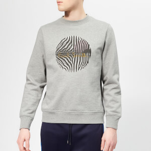 PS Paul Smith Men's Regular Fit Zebra Sweatshirt - Melange Grey