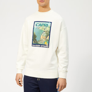 Maison Kitsuné Men's Locandina Sweatshirt - Ecru