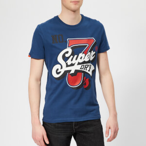 Superdry Men's Super 7 Logo T-Shirt - Blue