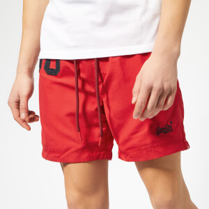 Superdry Men's Waterpolo Swim Shorts - Red Flag