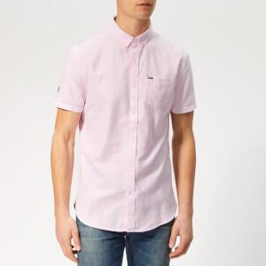 Superdry Men's Premium Oxford Short Sleeve Shirt - Pink