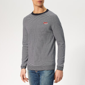 Superdry Men's Orange Label Crew Knit - Marina Feeder