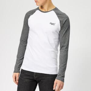 Superdry Men's Baseball Long Sleeve T-Shirt - Optic