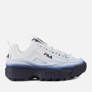 FILA Women's Disruptor 2 Premium Fade Trainers - White/FILA Navy