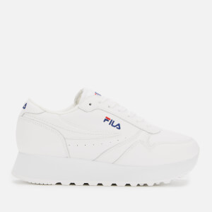 FILA Women's Orbet Zeppa Low Trainers - White