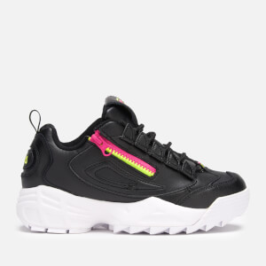 FILA Women's Disruptor 3 Zip Trainers - Black/Fuchsia Purple