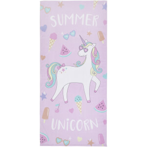 Catherine Lansfield Summer Unicorn Beach Towel - Multi