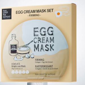 Too Cool For School Egg Cream Firming Mask Set (5 Masks, Worth $40)