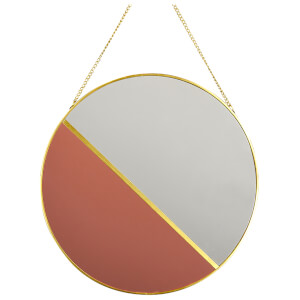 Candlelight Clear & Rose Gold Mirror with Chain