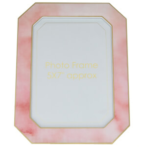 "Candlelight Pink with Gold Edges 5"" x 7"" Photo Frame"