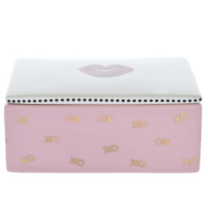 Candlelight Trinket Box with Lid XO and Lips