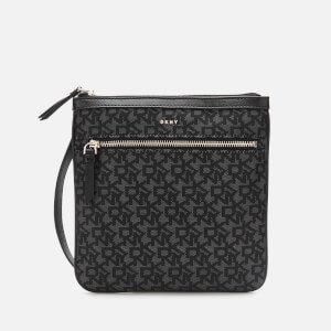 DKNY Women's Casey Zip Cross Body Bag - Black Logo
