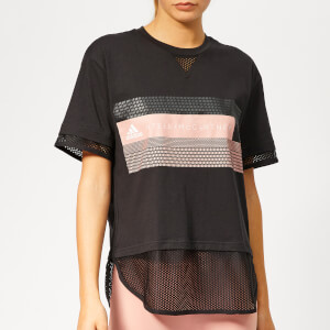 adidas by Stella McCartney Women s Logo Short Sleeve T-Shirt - Black d706a2764